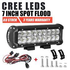 9inch 180W CREE LED Work Light Bar Spot Flood Offroad 4WD Truck SUV + Wiring Kit