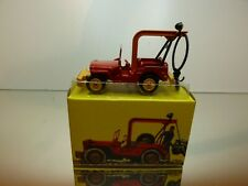 DINKY TOYS ATLAS 1412 JEEP RECOVERY - JEEP de DEPANNAGE - RED- EXCELLENT IN BOX