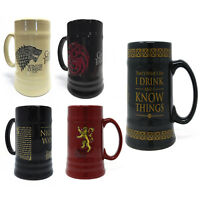 New Game of Thrones Ceramic Stein Targaryen Stark Nights Watch Pyramid Gift UK