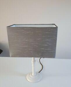 Lampshade Laura Ashley Maya Faux Silk Grey Fabric Rectangular 30cm