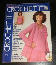 McCall's How Crochet It magazine Spring 1975 patterns Fashions BEACH styles SWIM