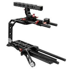 CAMTREE Blackmagic URSA Mini Camera Cage + Top Handle + Dovetail Plate + Rod