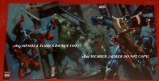 CIVIL WAR II #2 Dell'otto Virgin Euro Variant Hulk Thanos Logan Deadpool 3 Fold