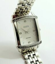 New listing Ecclissi Sterling Silver Lupah Style Diamond Bezel Ladies Watch