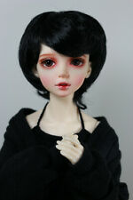 "1/4 6-7"" BJD DOLL WIG MSD UNOA FAIRYLAND BLACK SHORT BOB JR-139 USA SLIM MINI"