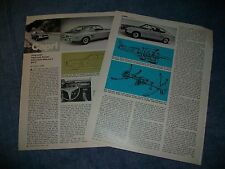 "1970 Ford Capri Vintage Info Article ""A Top Seller Fresh From Europe"" Mercury"
