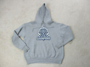 Majestic New York Yankees Sweater Adult Small Gray Blue MLB Baseball Hoodie Mens