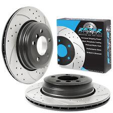 REAR VENTED 324mm BRAKE DISC PAIR FOR BMW 7 SERIES E65 E66 X5 E53 E38 LWB MODELS