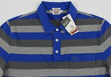 Men's PENGUIN Blue Gray / Grey Polo Shirt Large L NWT NEW Classic Fit Nice!