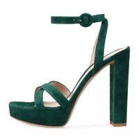 Women Shoes Peep Toe High Heels Sandals Platform Summer Casual Heel Buckle Strap