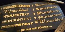 1-20cm Wunschtext Aufkleber Logo Sticker Autotuning selbst gestalten Gold Chrome