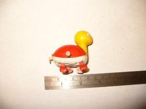 VINTAGE WHITE KNOB WIND-UP Toy Walking Turtle Spinning Tail Bandai Hong Kong