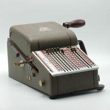 Vintage Safegaurd Check Writer Protector Model H Green Dark Red Antique w/ Key