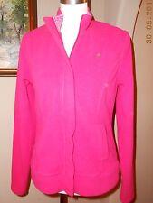 LILLY PULITZER Hot Pink Fleece Zip Front Jacket Size Medium M