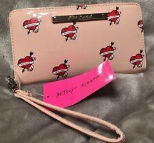 Betsey Johnson Blush Pink Heart & Arrow Bifold Wallet Wristlet NWT