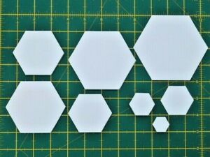 Hexagon Paper Templates English Paper Piecing Patchwork Quilting-160gsm