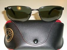 RAY BAN RB3254 61[]16mm G15 UV SLEEK SPORT BLACK CHROME METAL WRAPs SUNGLASSES