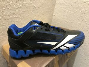 REEBOK ZIG COOPERSTOWN Men's V54990 ROYAL/BLACK/WHITE TURF Shoes SIZE 8.5