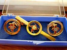 Knight Commander Masonic Cuff Links And Tie Clip
