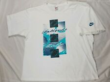 VINTAGE Nike Shirt White Andre Agassi Challenge Court Tennis 90s large
