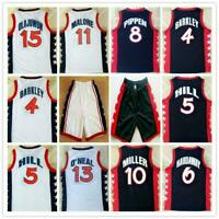 1996 USA Team Hakeem Olajuwon O'Neal Hardaway Charles Barkley Pippen Jerseys