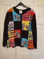 XL Sweater The Quacker Factory Sequins Zebra's on Front