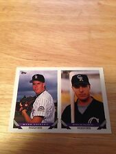 Topps 1993 Future Stars Of The Colorado Rockies Will Scalzitti & Mark Voisard