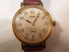 PULSAR Ladies Watch Needs Battery to work Leather Strap No Reserve