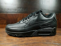 Nike Air Max 90 Leather (Black) [302519-001] Mens Running 8-13