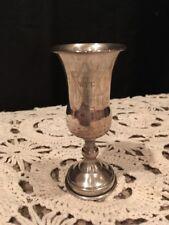 Antique Sterling Silver Kiddish Kiddush Cup Goblet