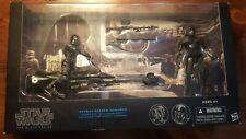Black Series Shadow Squadron 6 inch figures w/ Speeder Bike  Star Wars Complete