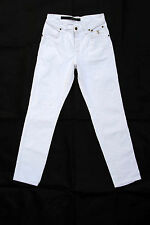 JECKERSON STRAIGHT STRETCH FIT WHITE JEANS Denim Trousers Uk 10 12 Skinny