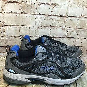Fila Windshift 15 Mens Gray Running Athletic Shoes Sneakers Size 13