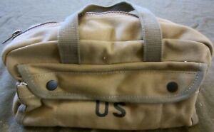 WWII Original Jeep/Half-Track Tool Or Tire Chain Bag.