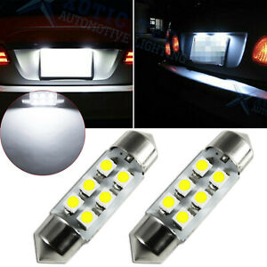 6418 C5W 36MM Festoon LED License Plate Tag Light Bulbs 6000K Super Bright White