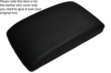 BLACK STITCHING ARMREST LID LEATHER SKIN COVER FITS SUBARU LEGACY 2006-2009 2L