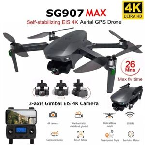 New Drone SG907 MAX UAV 5G Wifi 4K 3-Axis Gimbal Camera Supports TF Wide-Angle