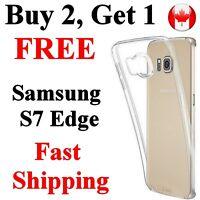 Samsung S7 Edge Transparent clear Case Cover Thin Flexible