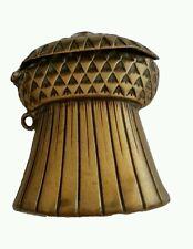 Antique Brass Match Safe Vesta Case Box Sheaf of Wheat Excellent Detail