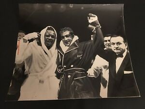 1954 ROCKY MARCIANO VS ARCHIE MOORE 12 X 10 ORIGINAL NEGATIVE 2 PHOTO