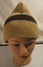 Alkii  Beige Striped Beanie  Hat Size One size fits all Unisex
