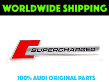 Audi Side Wing Fender Supercharged Badge Red/Chrome GENUINE 4F0853601A2ZZ