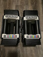 PowerBlock THE BLOCK Adjustable Dumbbells, 5-45 Lbs Personal HOME GYM WEIGHT SET