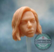 "ML261 Black Widow Infinity War Custom Sculpt Cast head use w/6"" Marvel Legends"