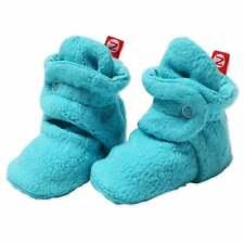 NEW Zutano Cozie Baby Booties 6M Turquoise Pool Stay-On Fleece Infant Slipper