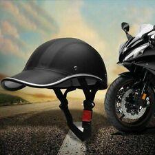 Unisex Motorcycle Bike Half Helmet Baseball Cap Style Safety Hard Hat Black