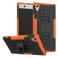 For Sony Xperia XA1 Ultra Case, Rugged Armor Hybrid Protective Kickstand Cover