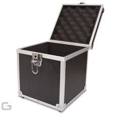 Cajas, bastidores y bolsas negros de vinilo para equipos de DJ y espectáculos
