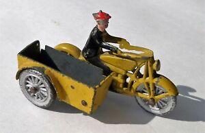 Vintage Tootsietoy Diecast Smitty on Motorcycle