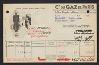 PARIS (IX° Arrt.) Cie du GAZ DE PARIS en 1947